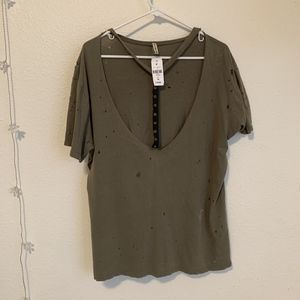 Army green Emma and Sam shirt from LF